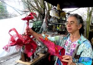 Artist Making Puppets