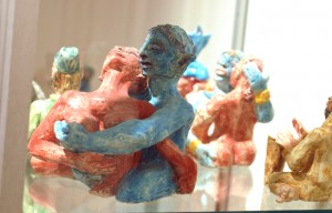 Figures in Glass Case