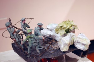 mixed media, papiermache' assemblage metal, plastic, wood