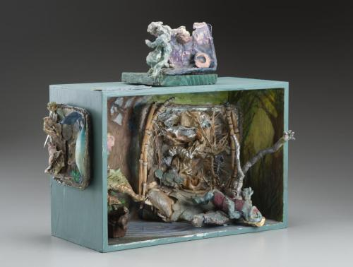 "Francesca Borgatta Dioramas: ""What Child is This?"", 20″×34″×10″"