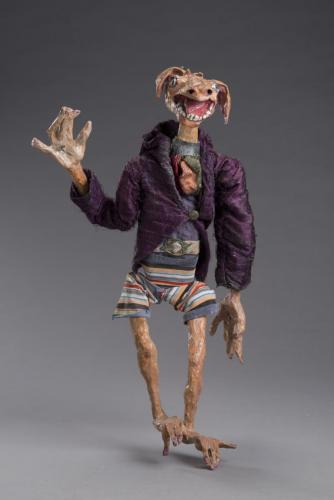 "Francesca Borgatta Articulated Puppets: ""Dirty Dawg"", 48″×20″×10″"