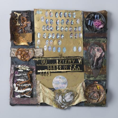 """Francesca Borgatta Reliefs: """"Metal Tablet I"""", 38″×36″×4″"""