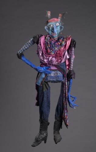 "Francesca Borgatta Articulated Puppets: ""Alien Lady"", 44″×20″×8″"
