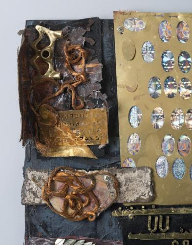"Francesca Borgatta Reliefs: ""Metal Tablet I"" (detail)"