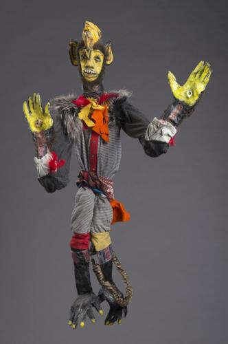 "Francesca Borgatta Articulated Puppets: ""Monkey King"", 40″×29″×6″"