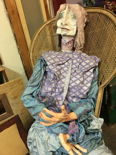 "Francesca Borgatta Puppets: ""Seated Mother"", 60″×48″×48″"