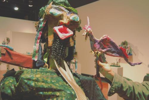 "Francesca Borgatta Puppets: ""Cardshark and Bird"" (from interactive installation ""Bird Migrations"")"