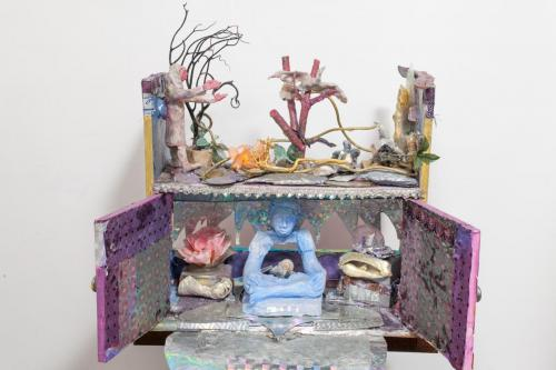"Francesca Borgatta Dioramas: ""Where is the Buddha?"", 18″×24″×10″"