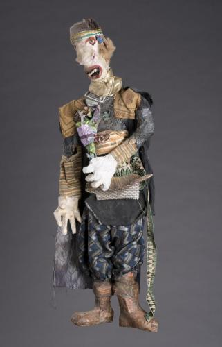 "Francesca Borgatta Articulated Puppets: ""Bashful Suitor"", 42″×18″×8″"