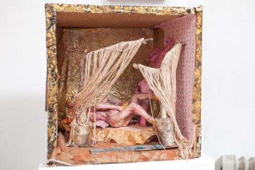 "Francesca Borgatta Dioramas:  ""Boudoir Scene"", 20″×18″×12″"