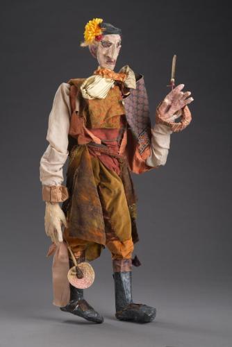 "Francesca Borgatta Articulated Puppets: ""Vaquero"", 38″×20″×12″"