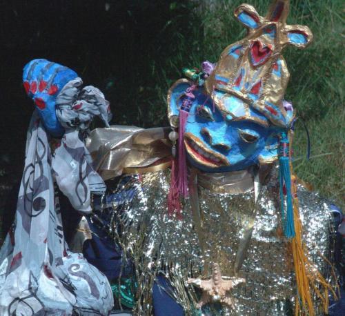 """Francesca Borgatta Puppets: """"Pearl Monkey"""" (processional figure), 72″×90″×40″"""