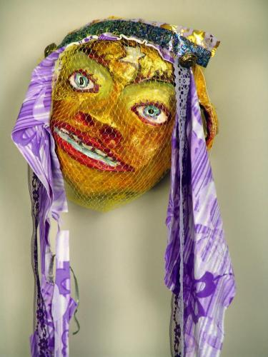 "Francesca Borgatta Masks: ""Veiled Monkey"", 20″×8″×5″"