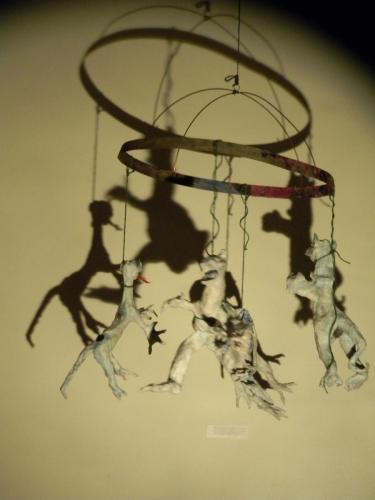 Francesca Borgatta Sculptures: Dinosaur Mobile