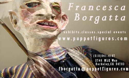 Francesca Borgatta Artist and Studio: Business Card